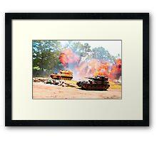 Tank battle Framed Print