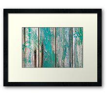 Old green wood Framed Print