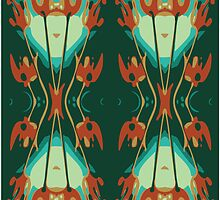 Nouveau Allium Red and Green by dianewald