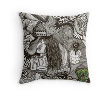 Doodles from Thoughts Throw Pillow
