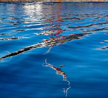 Blue Ripples by m E Grayson
