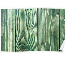 Green stained wood Poster