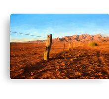 Outback Fence (GO2) Canvas Print