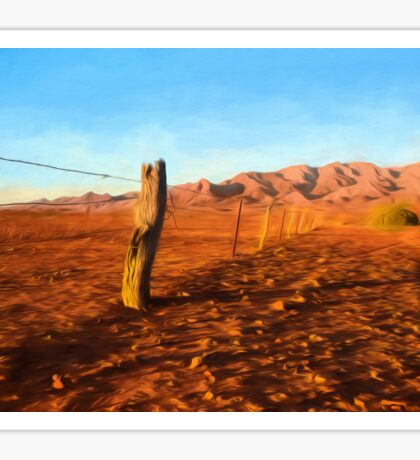 Outback Fence (GO2) Sticker