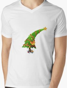 The Christmas Tree wishes You Merry Christmas Mens V-Neck T-Shirt