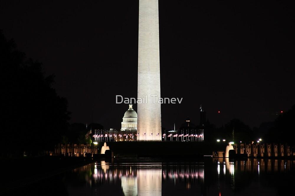 Washington Mall at night by Danail Tanev