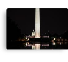 Washington Mall at night Canvas Print