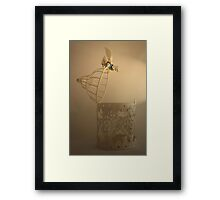 Nobody puts bird in the cage! Framed Print