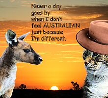 Not a day goes by when I don't feel Australian by Kristie Theobald