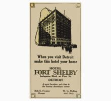 Vintage Detroit Fort Shelby Hotel Ad #2 by The Detroit Room