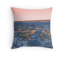 rockpools - orange Throw Pillow