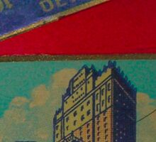 Vintage Detroit Fort Shelby Hotel #1 Sticker