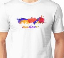 Manchester skyline in watercolor Unisex T-Shirt