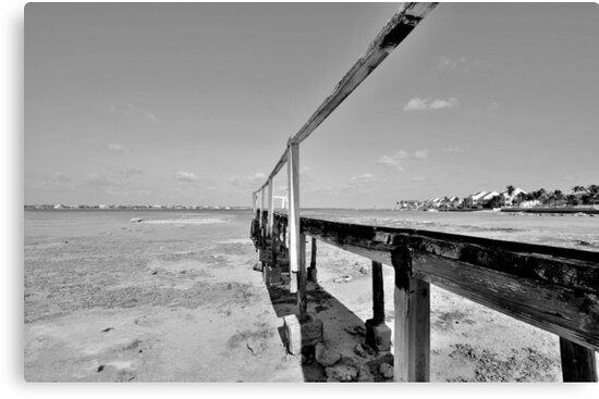 The Old Pier at Montagu Beach in Nassau, The Bahamas by Jeremy Lavender Photography