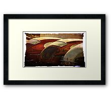3 old cars Framed Print
