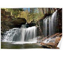 New Beginnings At R. B. Ricketts Waterfall Poster