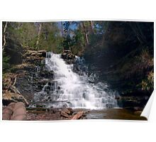 May Sunshine on F. L. Ricketts Waterfall Poster