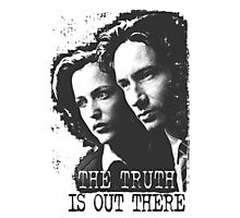 X-Files: The Truth is Out There (Mulder and Scully - Grey) Photographic Print