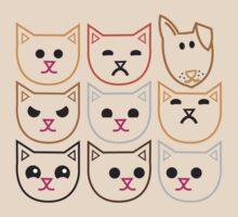 8 CATS 1 dog Pet lovers funny design by jazzydevil