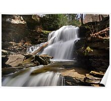 Splash of Sunlight on Shawnee Falls Poster