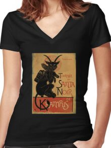 Merry Krampus! Women's Fitted V-Neck T-Shirt