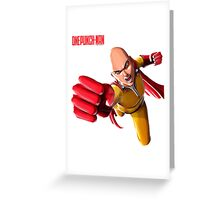 One Punch Man Saitama Super Greeting Card