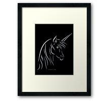 Unicorn - Einhorn Framed Print