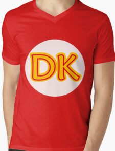 He's the leader of the bunch. He's DK! Donkey Kong! Mens V-Neck T-Shirt
