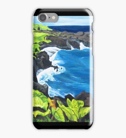 """Waianapanapa Black Sand Beach, Maui.""  iPhone Case/Skin"
