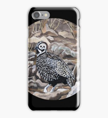 """""""The Montezuma Quail in Ft. Davis, Texas."""" iPhone Case/Skin"""