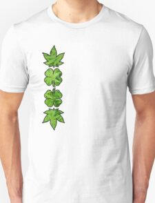 Marijuana Clovers Over Cannabis Plants T-Shirt
