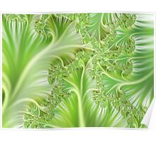 Beautiful green fractal pattern Poster