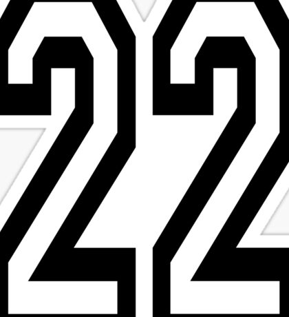 22, TEAM, SPORTS, NUMBER 22, TWENTY, TWO, Twenty Second, Competition,  Sticker