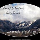 Mount St Helens lava dome, oval  by Dawna Morton