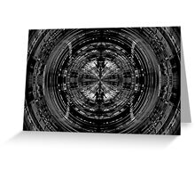 Abstract sci-fi pattern Greeting Card