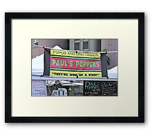 Pupus and Ono Grinds Framed Print