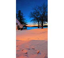 BoatHouse View at Sunset Photographic Print
