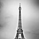 Eiffel Tower on a Snowy Day by Luke Donegan