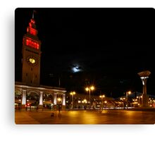 Niners - Red Ferry Building Canvas Print