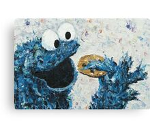 Cookie Monster / Sesame Street / inspired / Oils 2014 Canvas Print