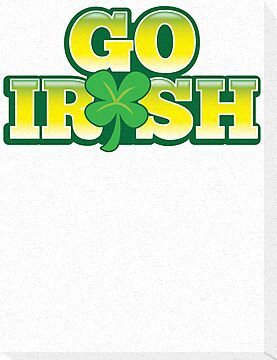 GO IRISH St Patrick's Day Design with a shamrock by jazzydevil