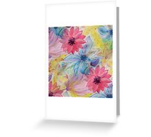 Watercolor hand paint floral design Greeting Card