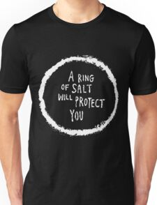a ring of salt will protect you - White Unisex T-Shirt