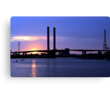 Sunset @ Docklands Canvas Print