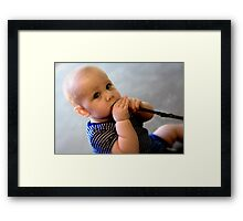 fibre is important Framed Print