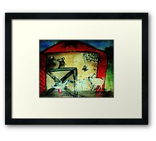 Charlotte shows herself to her neighbors, on the farm watercolor Framed Print