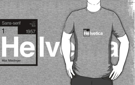 Helvetica Periodic Logo 1 (in black and white) by electricFIELD