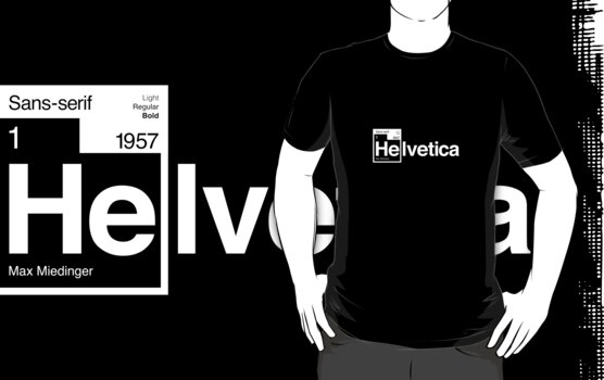 Helvetica Periodic Logo 1 (in white) by electricFIELD