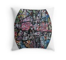 Mad-Hatters Tea-Party Throw Pillow