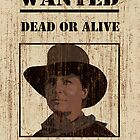 """""""Clint Eastwood"""" wanted poster from Back to the Future 3 by Stephen Fisher"""